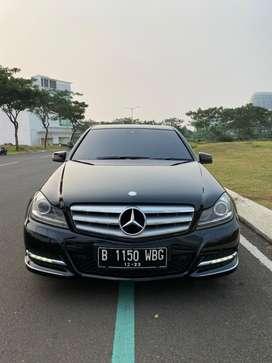 TDP 65 juta ! Mercy C200 Edition 2013 Hitam Sangat Terawat Top !