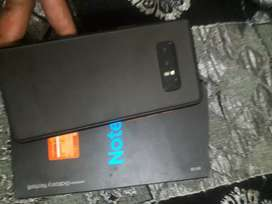 Samsung Galaxy note 8 with mobile box colour black