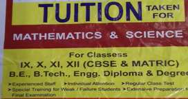 Tuition for 6 to 10 thCBSE&Matric Student,College Students