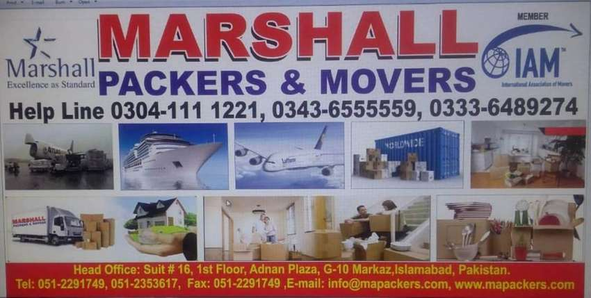 Marshall Packers & Movers, House Shifting,Transportation, Cargo Movers 0