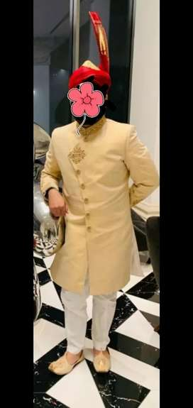Sherwani with matching shoes for Sale