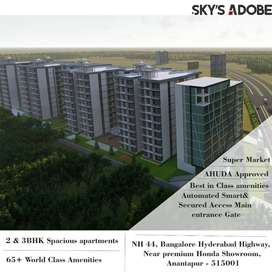 2 & 3 bhk flats at affordable cost in our anantapur