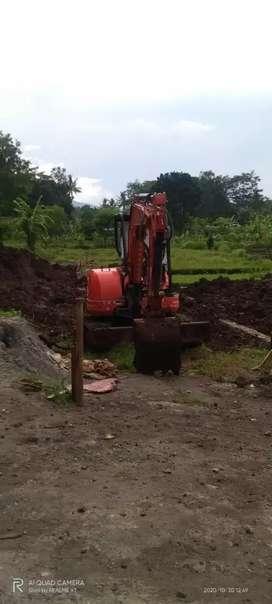 Land clearing pengurugan stripping tanah cut and fill excavator beko