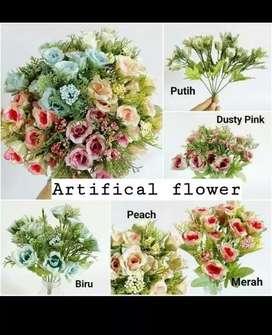 Bunga Plastik / Bunga Artifical mawar kecil