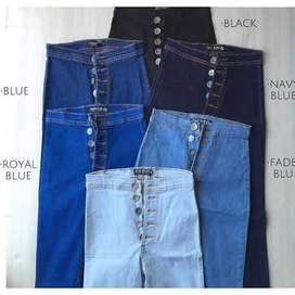 Light blue jeans 5 boton