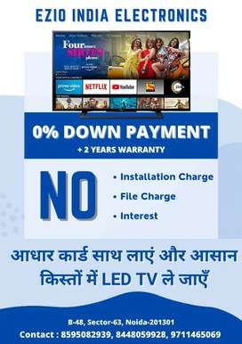 "40"" smart LED TV Aadhar card per kisto mein"