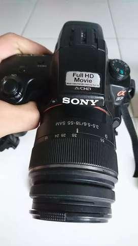 Paket sony a37 + kit lens + fix 50mm + 75-300mm