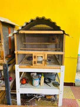 African and love birds cage home made with stand big size