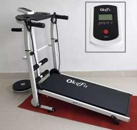 Treadmill manual 4 fungsi murah