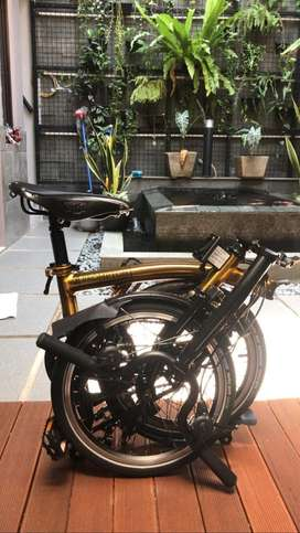 BROMPTON M6L ASIA GOLD EDITION LIKE NEW 97%
