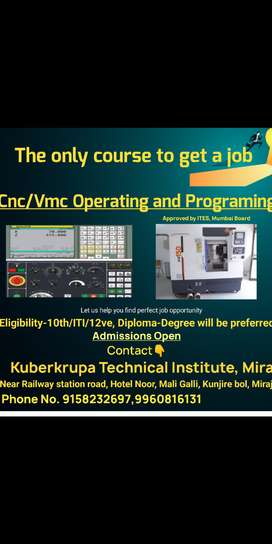 Complete CNC/Vmc Programming course and get a job