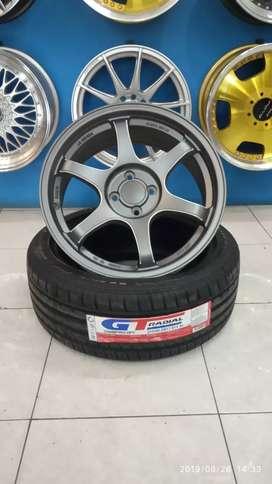 Paket velg ring 17x7 SSR type c ban GT radial pcd 4x100