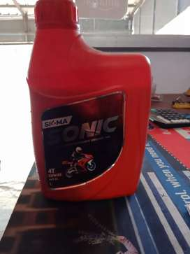 New sigma Sonic bike engine oil