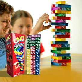 Uno Stacko Tumbling Tower Mainan Edukasi