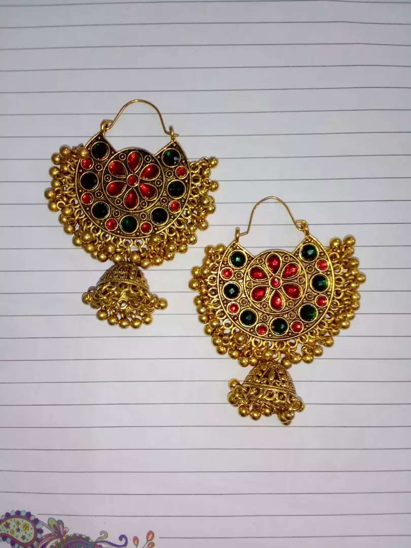 Indian antique style earings 0