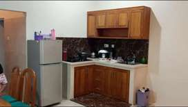 Almari dapur atau kita kitchen set jati