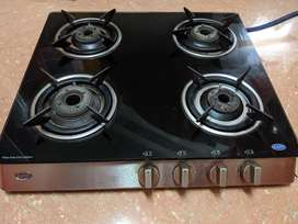 Kaff 4 Burner Glass Top Stove