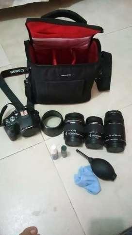 Canon ios 200D + lensa2