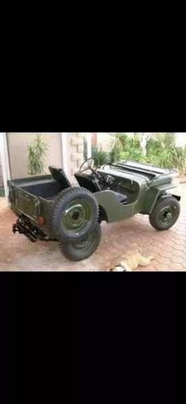 Mahindra DI army jeep