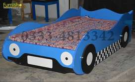 KIDS CAR BED | KIDS BEDS | BABY SINGLE BED | CHILDREN BEDS BY FURNISHo