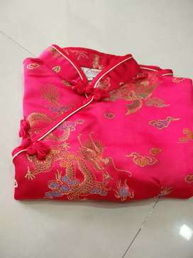 1-7 years baby clothes this is Chinese dress