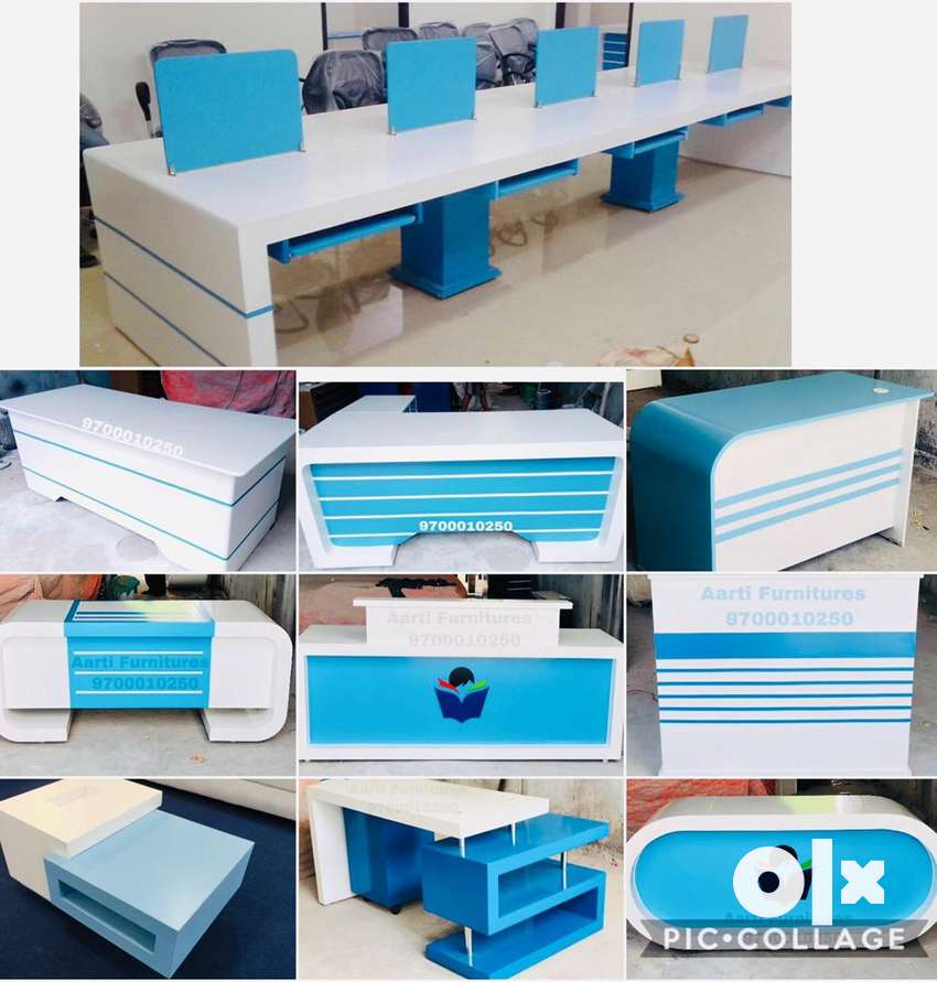 New latest exclusive designed office tables Work stations chairs 0