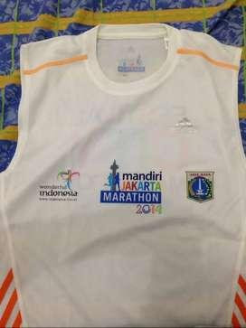 Kaos Lari Jakarta Marathon 2014 Adidas & Asics Paris Marathon 2013