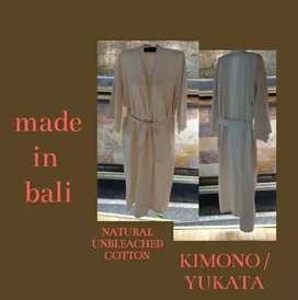 KIMONO/ YUKATA MADE IN BALI - BAJU TIDUR - UNBLEACHED COTTON - GADING