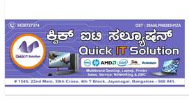 Quick IT Solution (Multi Brand Desktop, Laptop, Printer Services)