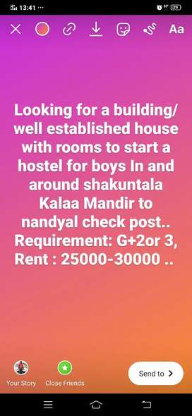 Looking for a building/ house to establish a boys hostel