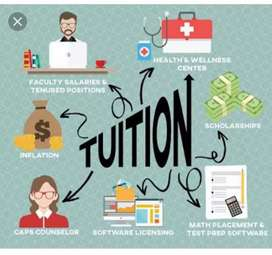 Provide tuition classes from kg to +2 all subjects, for info cont.me