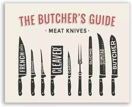 Male or female Butcher meat and fish cuting shop