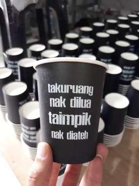 Sablon gelas kertas dengan logo anda PAPER CUP 12oz
