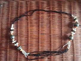 kalung etnik manik2 Kalimantan hitam