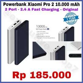 Powerbank Pro 2 Xiaomi Original 10.000mAh Berkualitas 2 Port READYSTOK