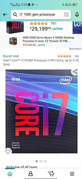 i7 9 generation processor