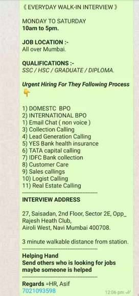 URGENT REQUIREMENT FOR BPO / CALL CENTER