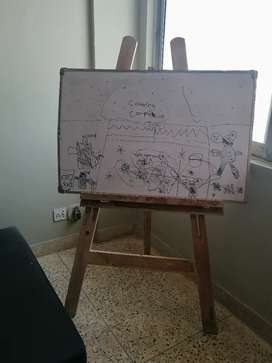White board for kids with wooden stand