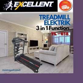 treadmill elektrik TL-618 G-33 alat olahraga lari