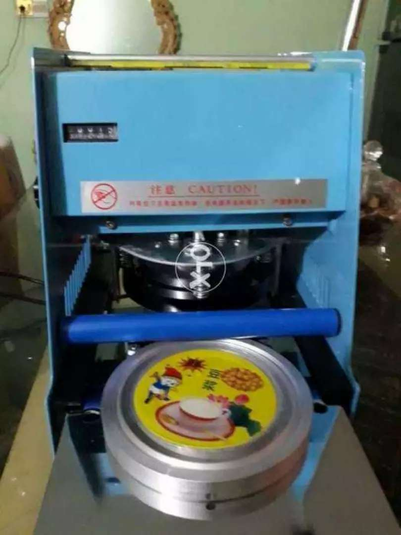 Cup sealing machine with aluminum foil 0