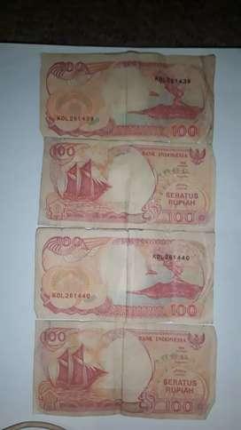 uang kertas kuno thn 1992,1958,1945