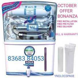 October offer bonanza on AQUA RO UV UF TDS at your doorstep installion
