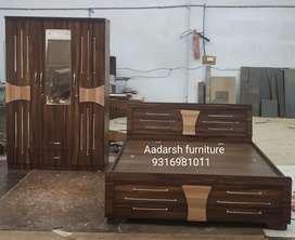 6*5 bed and 3 door wardrobe still Audi design(sabar)