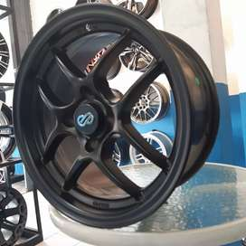Dijual velg ENKEI TUNNING ring 15x7.0 pcd 4x100 on yaris,jazz ,brio
