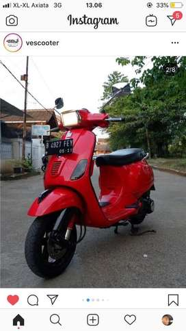 Piaggio vespa s 150 3v merah good condition