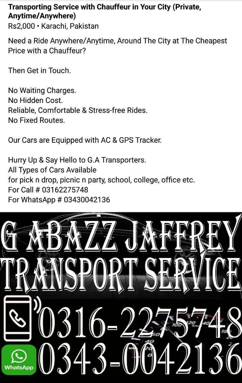 G.A Transport Service In Your Own City Karachi 0