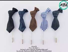Mini Tie and Bow Lapel Pins Brooches