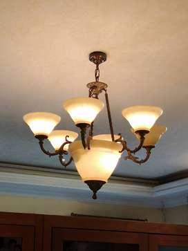 Lampu gantung alabaster