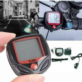 Speedometer sepeda 15 fungsi,odometer LCD,anti air