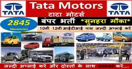 Jobs in Tata motors  for 10+2+ITI Fresher's & Experience candidates